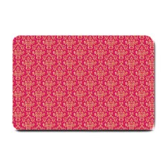 Damask Background Gold Small Doormat