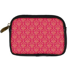 Damask Background Gold Digital Camera Cases