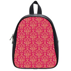 Damask Background Gold School Bags (small)