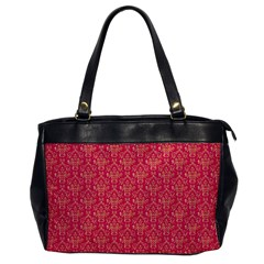 Damask Background Gold Office Handbags