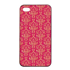 Damask Background Gold Apple Iphone 4/4s Seamless Case (black)