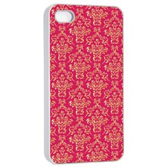 Damask Background Gold Apple Iphone 4/4s Seamless Case (white)