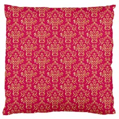 Damask Background Gold Large Cushion Case (two Sides)