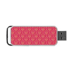 Damask Background Gold Portable Usb Flash (two Sides)