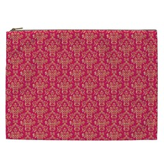 Damask Background Gold Cosmetic Bag (xxl)