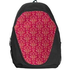 Damask Background Gold Backpack Bag