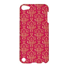 Damask Background Gold Apple Ipod Touch 5 Hardshell Case