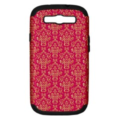Damask Background Gold Samsung Galaxy S Iii Hardshell Case (pc+silicone)