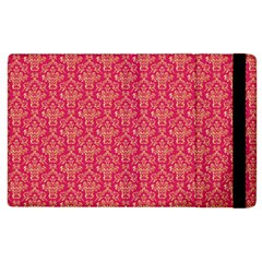 Damask Background Gold Apple Ipad 3/4 Flip Case