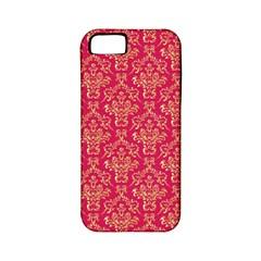 Damask Background Gold Apple Iphone 5 Classic Hardshell Case (pc+silicone)