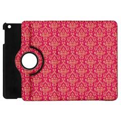Damask Background Gold Apple Ipad Mini Flip 360 Case