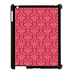 Damask Background Gold Apple Ipad 3/4 Case (black)