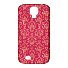 Damask Background Gold Samsung Galaxy S4 Classic Hardshell Case (pc+silicone)