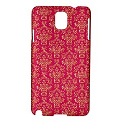 Damask Background Gold Samsung Galaxy Note 3 N9005 Hardshell Case