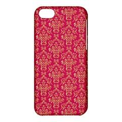 Damask Background Gold Apple Iphone 5c Hardshell Case