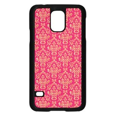 Damask Background Gold Samsung Galaxy S5 Case (black)