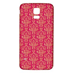 Damask Background Gold Samsung Galaxy S5 Back Case (white)