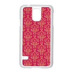 Damask Background Gold Samsung Galaxy S5 Case (white)