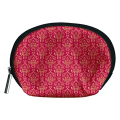 Damask Background Gold Accessory Pouches (medium)