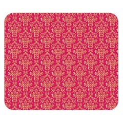 Damask Background Gold Double Sided Flano Blanket (small)