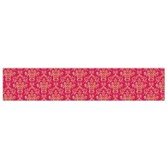 Damask Background Gold Flano Scarf (small)