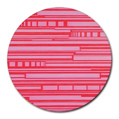 Index Red Pink Round Mousepads