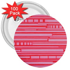 Index Red Pink 3  Buttons (100 Pack)