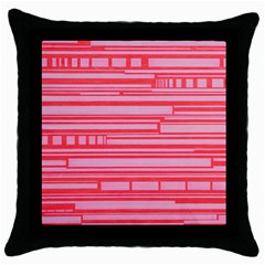 Index Red Pink Throw Pillow Case (black)