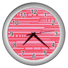 Index Red Pink Wall Clocks (silver)