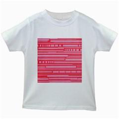 Index Red Pink Kids White T-Shirts
