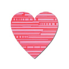 Index Red Pink Heart Magnet