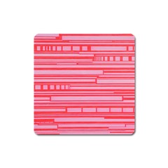 Index Red Pink Square Magnet
