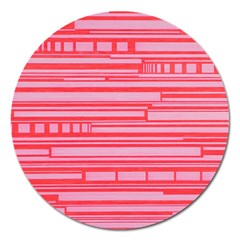 Index Red Pink Magnet 5  (round)