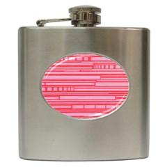 Index Red Pink Hip Flask (6 oz)