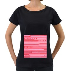 Index Red Pink Women s Loose Fit T Shirt (black)