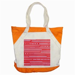Index Red Pink Accent Tote Bag