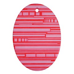 Index Red Pink Oval Ornament (two Sides)