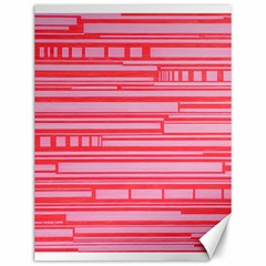Index Red Pink Canvas 12  X 16