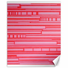Index Red Pink Canvas 16  x 20