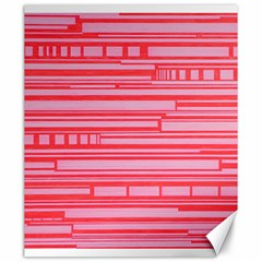 Index Red Pink Canvas 20  X 24