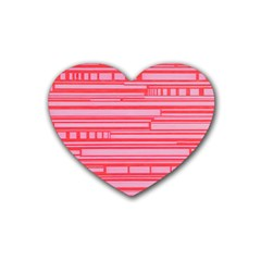 Index Red Pink Rubber Coaster (heart)