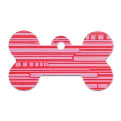 Index Red Pink Dog Tag Bone (two Sides)