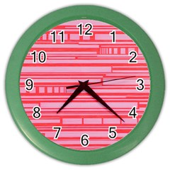 Index Red Pink Color Wall Clocks