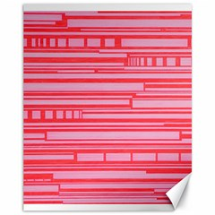 Index Red Pink Canvas 11  X 14