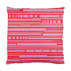 Index Red Pink Standard Cushion Case (one Side)