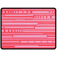 Index Red Pink Fleece Blanket (large)