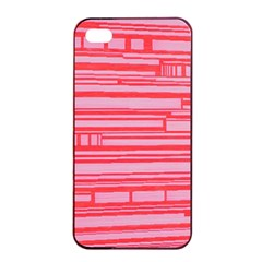 Index Red Pink Apple Iphone 4/4s Seamless Case (black)