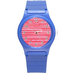 Index Red Pink Round Plastic Sport Watch (s)