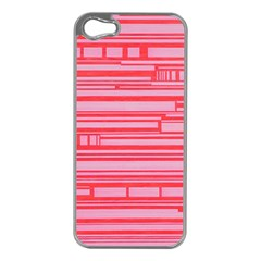 Index Red Pink Apple Iphone 5 Case (silver)