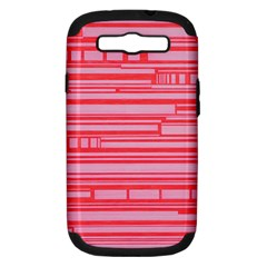 Index Red Pink Samsung Galaxy S Iii Hardshell Case (pc+silicone)